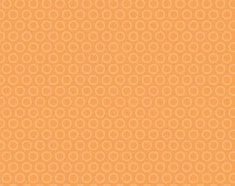 Riley Blake, My Mind's Eye, All Star 2, Cheery Circles in Orange, 1/2 Yard