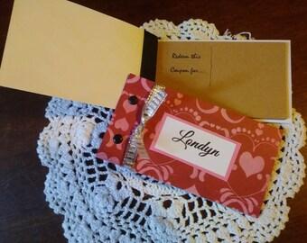 Love Heart Coupon Books - valentines, anniversary, romantic gift