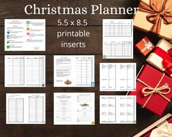 Christmas Planner Printable half page A5 5.5 x 8.5