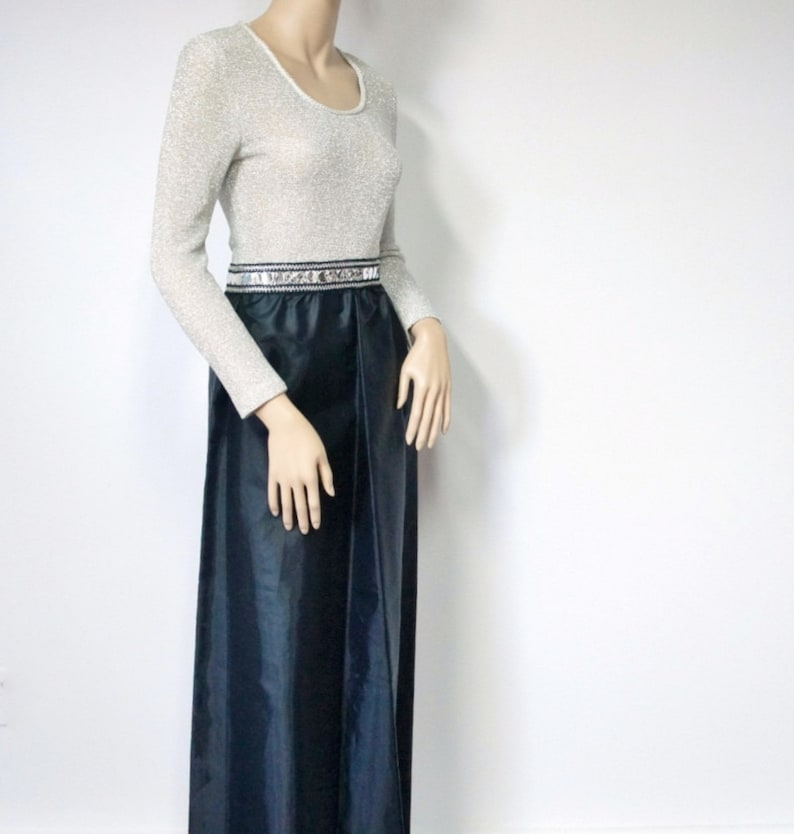 1960's Dress Hostess Vintage Sweater Maxi