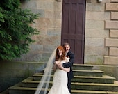 Cathedral length two tier Wedding Bridal Veil 108 inches white, ivory or diamond