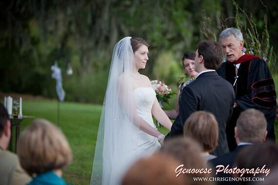 "90"" chapel single layer Wedding Bride Veil WHite, Ivory, diamond white"