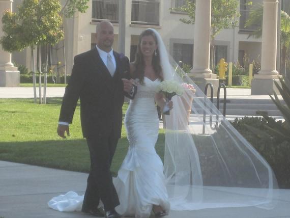 Etsy Cathedral wedding veil bridal Wedding Veil WHite diamond white abusymother veils Ivory