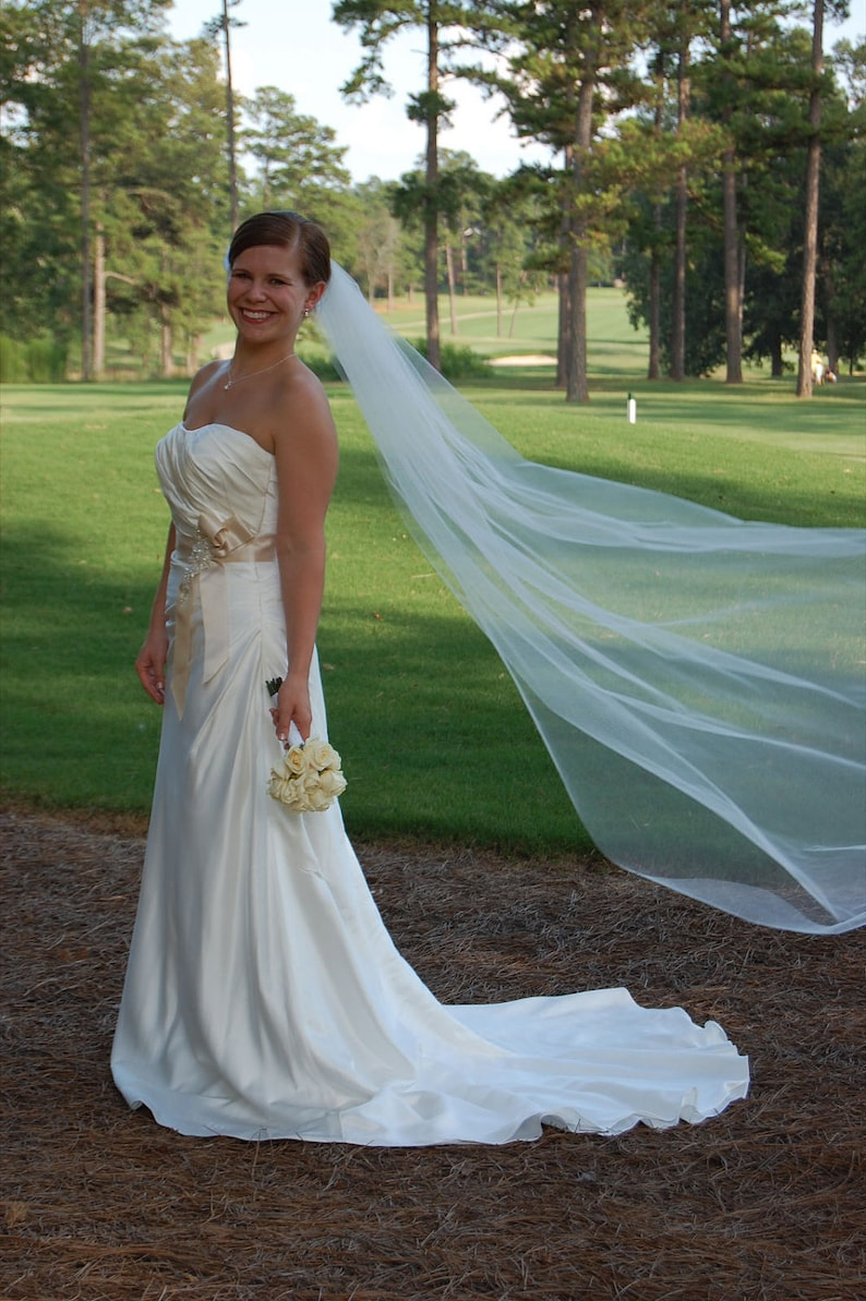 chapel wedding veil cathedral veil Simple abusymother veil image 0