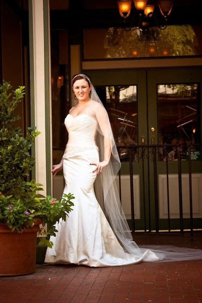 Cascading chapel cathedral abusymother single layer wedding  veil white, ivory or diamond