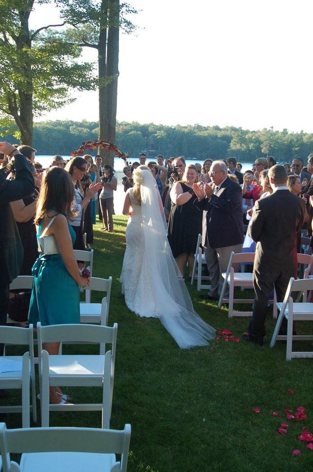Single layer cathedral elegant wedding veil 120 white, ivory or diamond READY TO SHIP