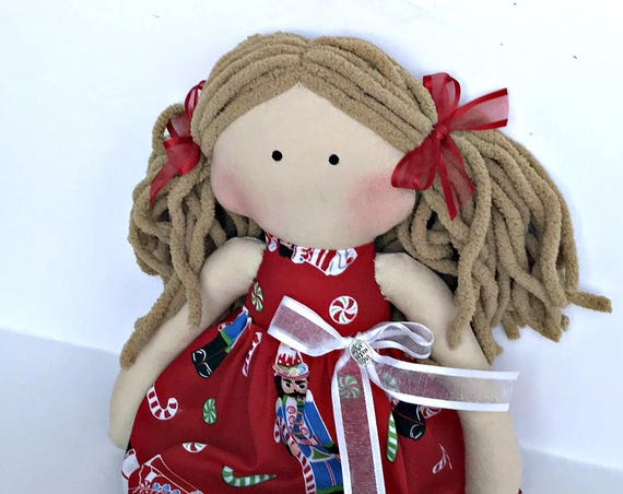 Children friendly doll christmas gift to girls cloth doll gift for handmade friendly doll unique gift littles by Bella small one of kind