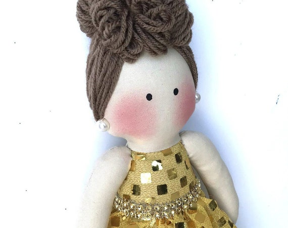 Baby First Doll Children friendly gift to girls cloth doll gift for handmade friendly doll unique gift small customized girl first doll