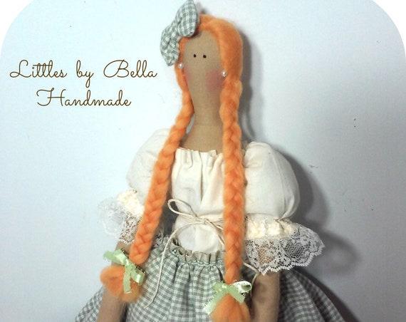 handmade doll Ireland doll internacional dolls rag doll Irish doll Ireland culture doll red hair doll Green doll Irish gift irish people