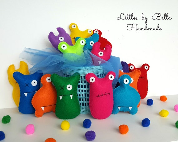 Little monster favors Adopt a monster party favors little monster 1st birthday Baby First Doll Toddler monster favors  monster party