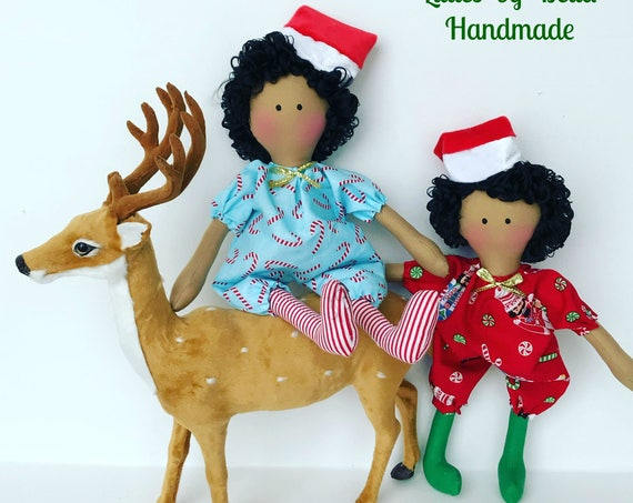 Black people  Elve doll black people elfs  doll snow flakes decoration christmas gifts to girls home  ornaments  Elven Doll ready to ship