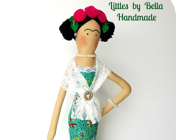 Mexican dolls soft sculpture textile doll handmade mexican doll fabric doll human figure Diego Rivera mexican artist painter art doll