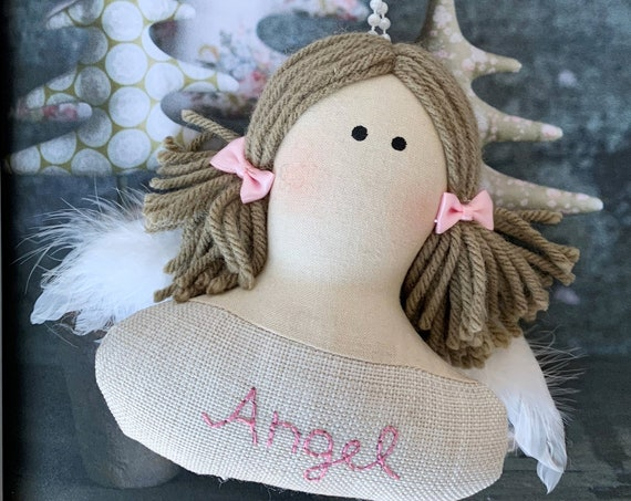 Angel ornaments angel gifts chirstmas gifts ornament clothing fabric ornament doll art