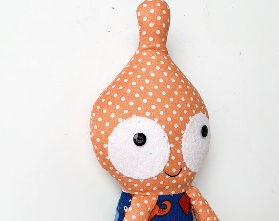 Baby First Doll  orange Little monster Alien monster plush creature Alien plush toy monster friendly stuffed alien toys weird alien plush
