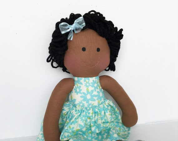 Baby First doll daughter dolls family dolls black baby friendly dolls Children friendly gift to girls dark skin cloth doll gift to a girl.