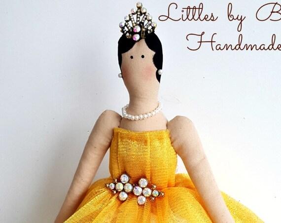 Ballerina doll handmade doll tulle dress princess cloth doll gift for girls room decor ballet dancer ballet dancer gift for girls ballet