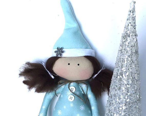 Elve doll gnome doll snow flakes decoration christmas gifts to girls home living ornaments Elf doll Elven Doll
