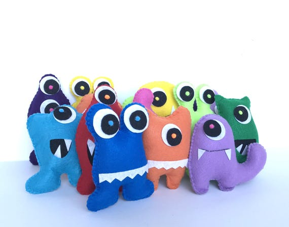Little monsters favors felt milk cookie party toys adopt a monster party supplies plush monster adoption party little monster 1st birthday