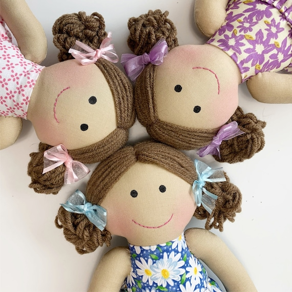 Short hair style Baby First Doll cloth doll rag doll first birthday gift Children friendly embroider a name on doll set baby doll for kids