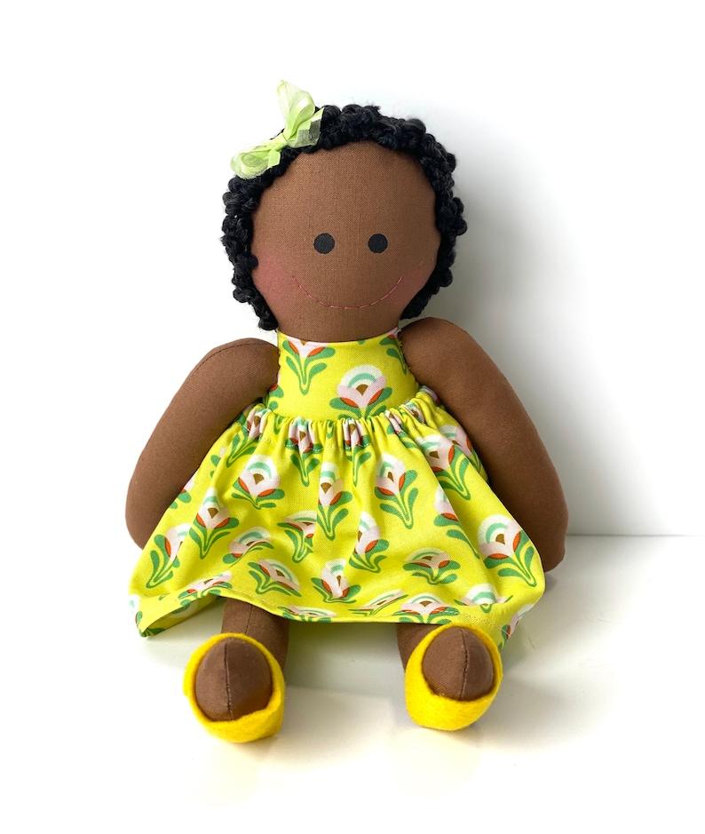Black baby friendly dolls to girls dark skin cloth doll image 0