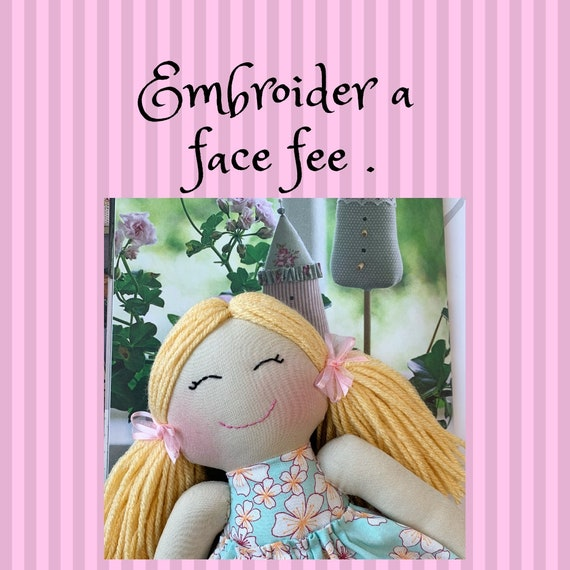 Embroider a face Fee.