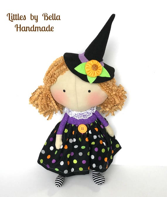 Witch doll children Halloween dolls tilda toy autumn season dolls tilda harvest fabric fall gifts Halloween party decoration tilda dolls