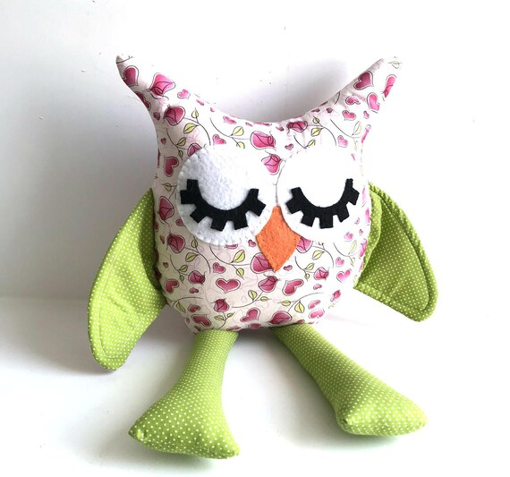 Valentines owl doll valentines baby friendly animal gifts heart fabric owl doll decoration nursery room gifts friendly owl