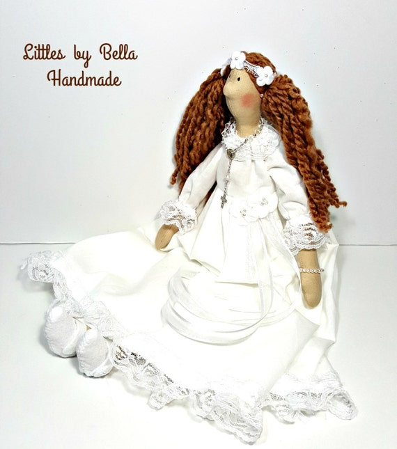 Religious  doll Tilda doll religious doll doll with Rosary prayer doll dolls communion gift one of kind church doll gift to girls