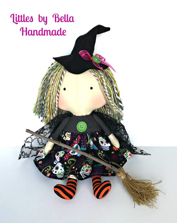 SALE -Witch doll children Halloween dolls tilda toy autumn season dolls tilda harvest fabric fall gifts Halloween  decoration tilda doll