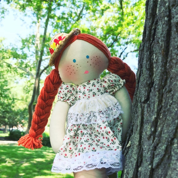 Anne with an E doll AmyBeth mcnulty doll farmer carrot doll country dolls Anne of green gables girl Anne art handmade red hair girl