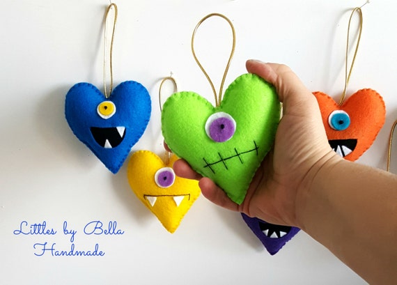 Felt MOnters ornament  party felt monster Adopt a Monster party favors monsters theme felt monster party supplies plush monsters felt favors