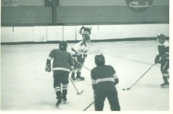 Hockey Game School Boys Kids Playing On Ice Skates Vintage Etsy