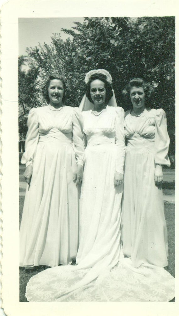 1944 Hochzeit Tag Braut Kleid Brautjungfern Ww2 40er Jahre Etsy