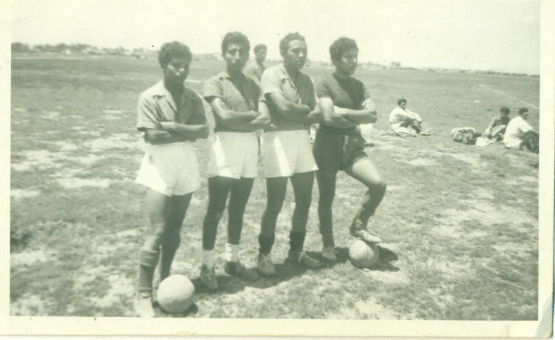 427a2815c3 1960s Football Soccer Team Players Standing on Field Spanish | Etsy