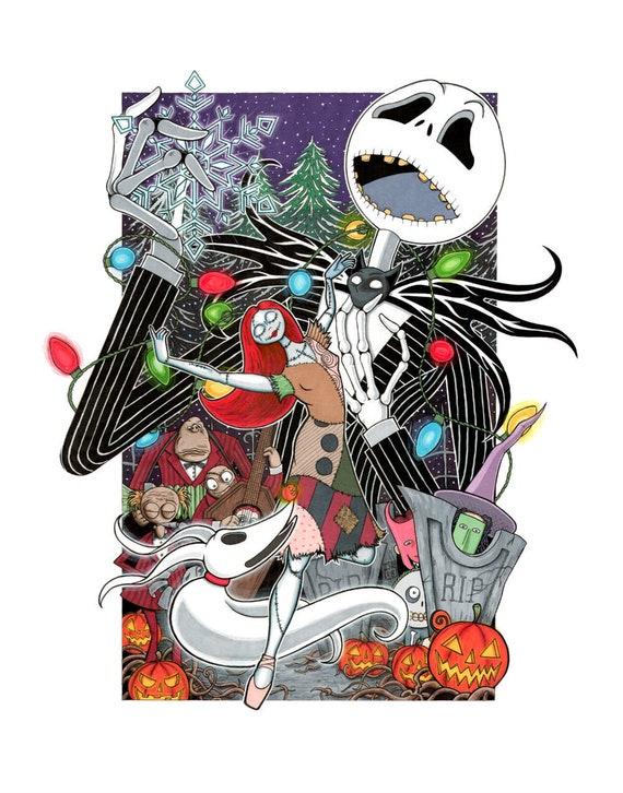 Nightmare Before Christmas Illustration.The Nightmare Before Christmas 11 By 17 Illustration Print By Daniel Ramirez