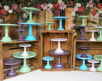 Mint Ceramic Decorative Cupcake Pedestal Stand Southern Home Kitchen Deco Cake