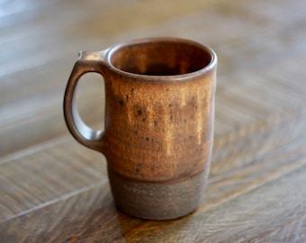 Tall Mug - Yellow Brown