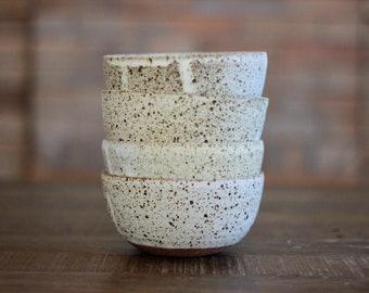 Bowl B - Spotty White Cream