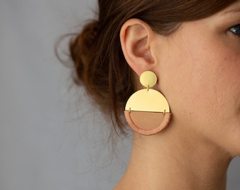 LUNA earrings round in Rose