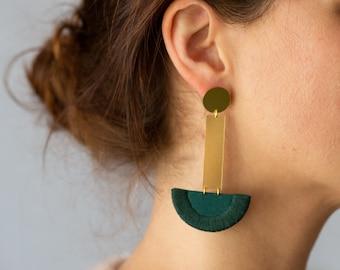 LUNA earrings drop in Forest