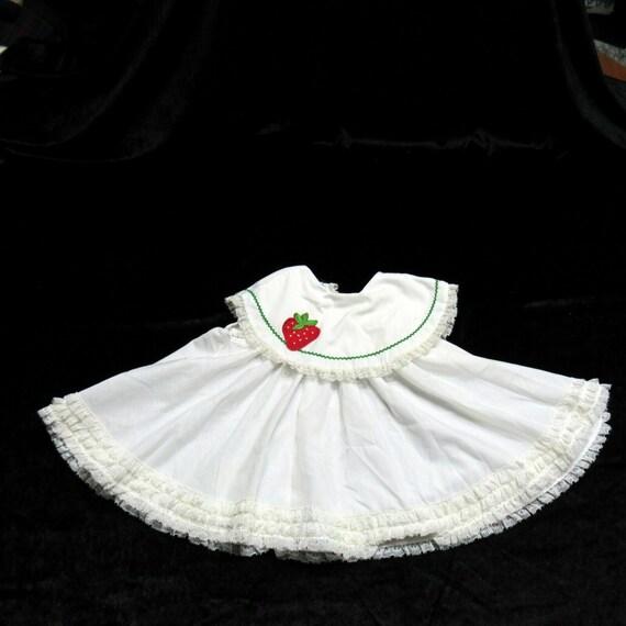 Vintage Miniworld White Lacy Dress Infant 12-18 Mo