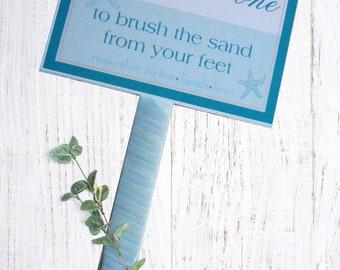 cf0b69145 Sand Paint Brush Sign - Beach Destination Wedding Signs - Sand Brush Sign - Flip  Flop Signs - Custom Sign 6x8 w 12