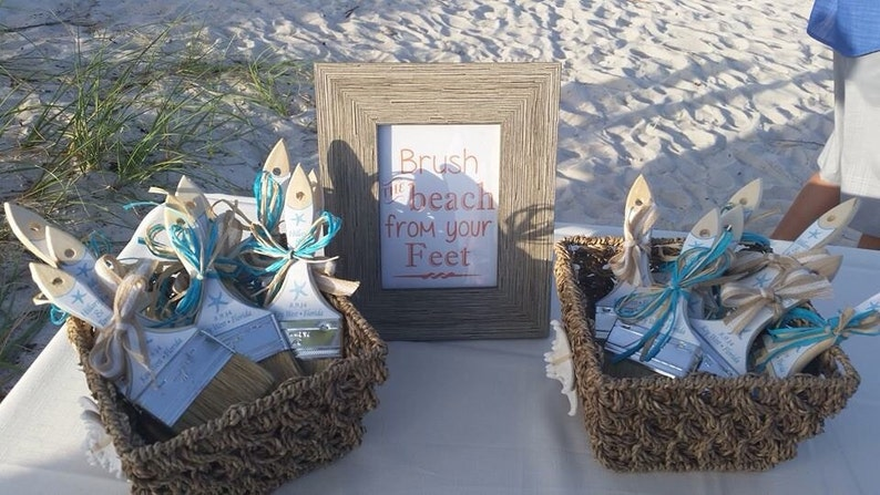 66f67584e Beach Wedding Sand Brush Stickers Customized I print U stick