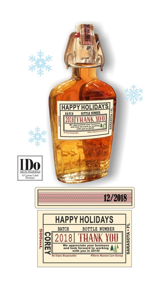 liquor flask for christmas corporate flasks thank you etsy