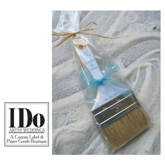 250ac428c Beach Wedding Brush - Wedding Custom Sand Brushes for the Beach and Beach  Destination Weddings - Your Colors   Choice of Design