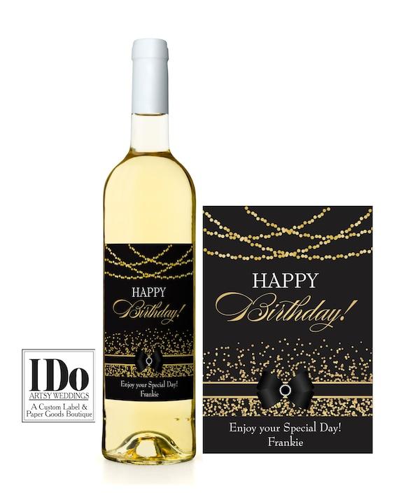 Birthday Wine Label Birthday Wine Sticker Personalized Wine Label Special Day Printed Label Custom Wine Labels