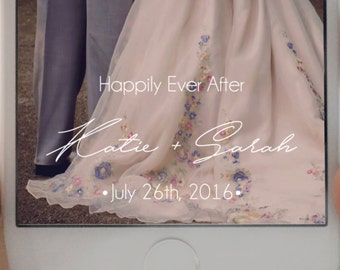 SNAPCHAT GEOFILTER, Personalized Snapchat Geofilter, Wedding geofilter, Snapchat filter, rustic snapchat geofilter, Watercolor, Wedding