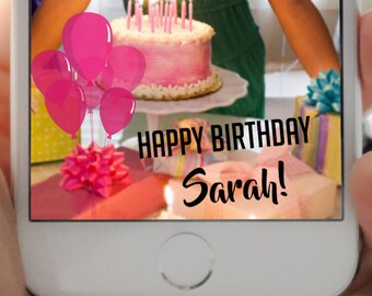 SNAPCHAT GEOFILTER, Personalized Snapchat Geofilter, Birthday geofilter, Snapchat filter, Happy Birthday, Birthday Snapchat, Geofilter, Snap