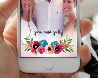 SNAPCHAT GEOFILTER, Custom Snapchat Geofilter, Wedding geofilter, Snapchat filter, rustic snapchat geofilter, Watercolor, Wedding