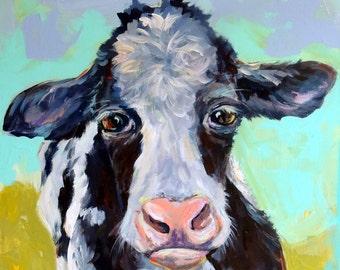 adorable please pet me baby cow print
